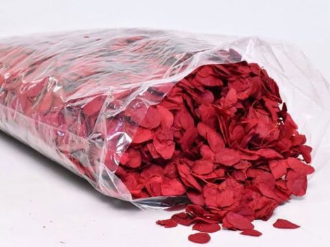 Dried Red Rose Petals - Red - Rose Buds - 25g, 50g, 100g- Wedding Decorations- - Paradise Crow -  Natural Design & Interiors