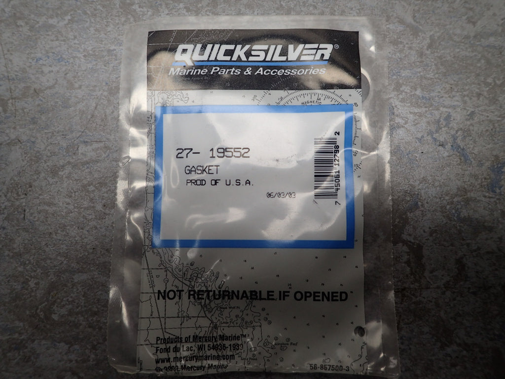 NEW Mercury Outboard OEM Water Pump Gasket 27-19552