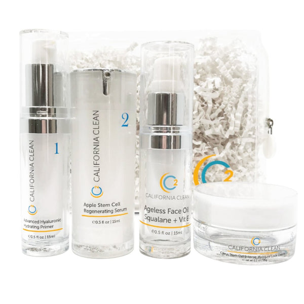 Skin Transformation Kit <br> (HA Primer, Serum, Squalane + Vit E Oil and Citrus Moisture Lock Creme)