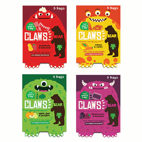 BEAR CLAWS Fruit Shapes Selection 4 x 5 x 18g