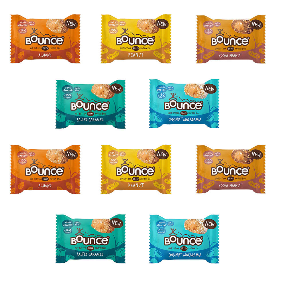 Bounce Nut Butter Filled Protein Ball Selection 10x35g