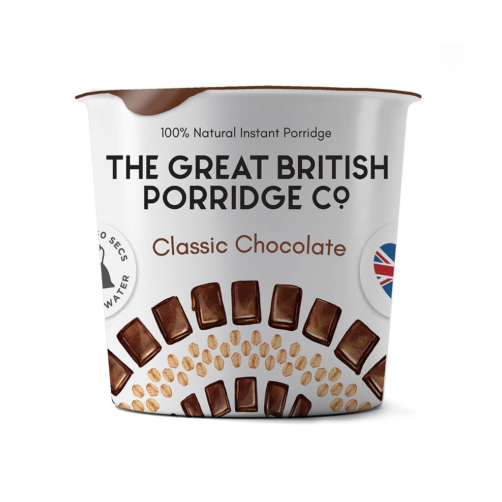 The Great British Porridge Co. Single Pot Porridge- Classic Chocolate