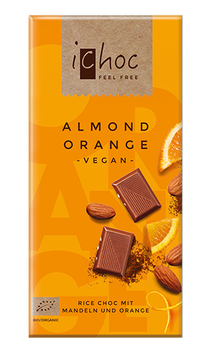 iChoc Vegan Chocolate - Almond Orange