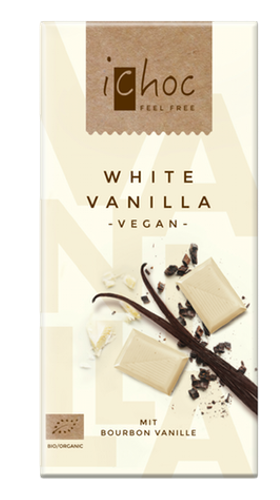 iChoc Vegan Chocolate - White Vanilla