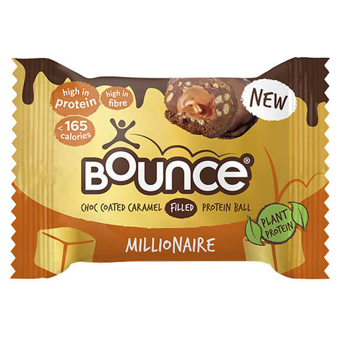 Bounce Choc Coated Caramel Filled Protein Ball - Millionaire