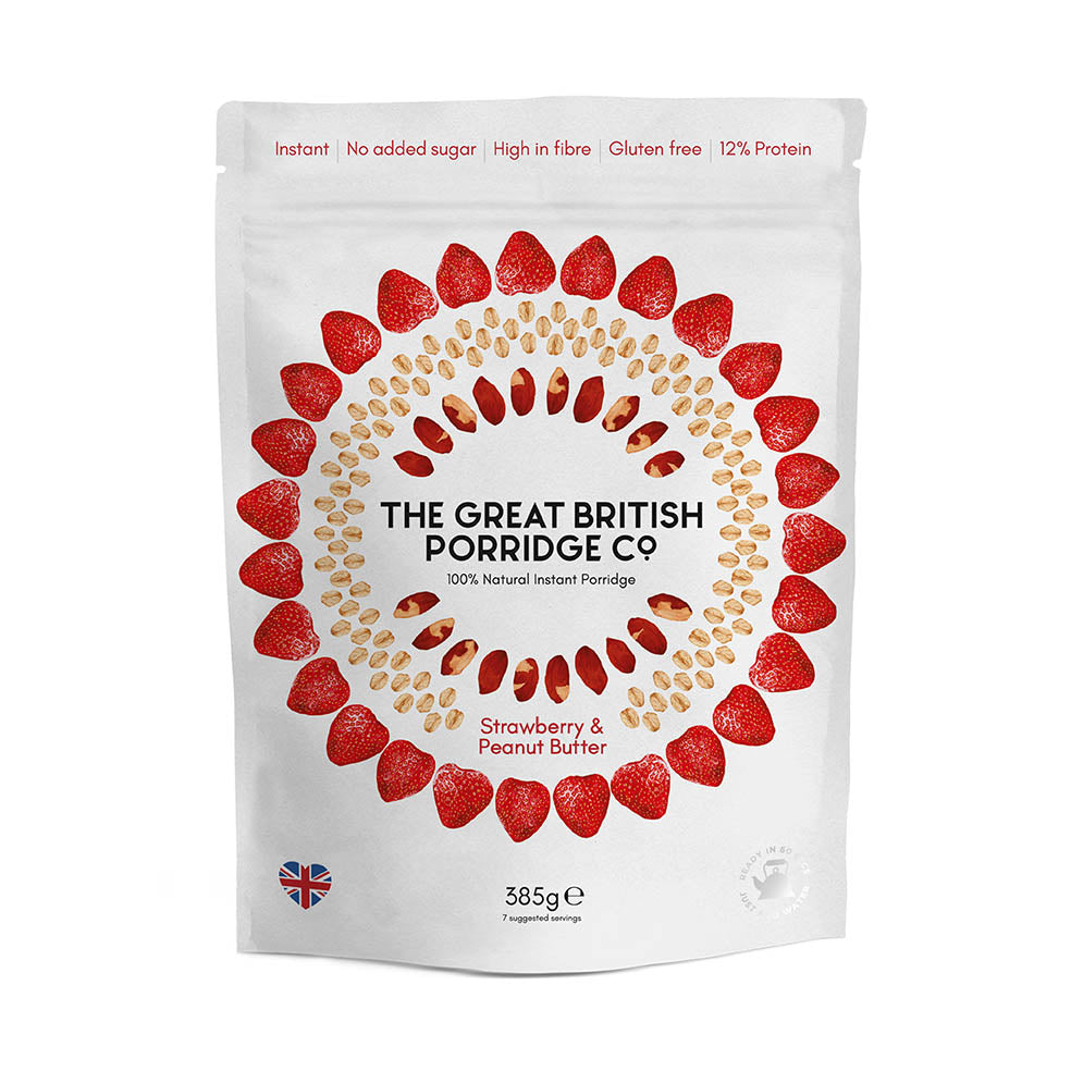 The Great British Porridge Co. - Strawberry & Peanut Butter Porridge