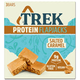 Trek Salted Caramel Flavour Topped Protein Flapjack
