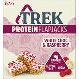 Trek White Chocolate Raspberry Protein Flapjack