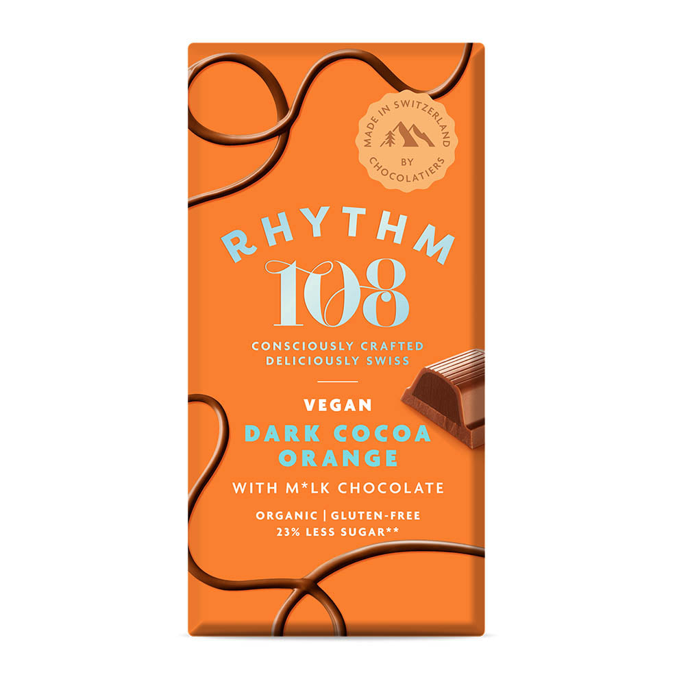 Rhythm 108 Dark Cocoa Orange Bar