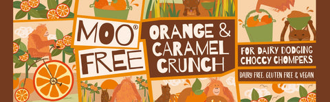 Moo Free - Dairy Dodging Orange & Caramel Crunch Choc Bar