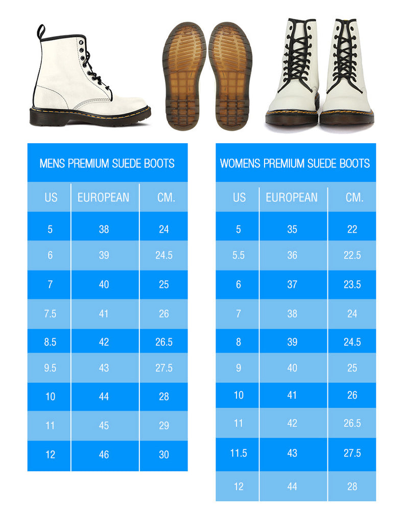 Size Chart for Boots