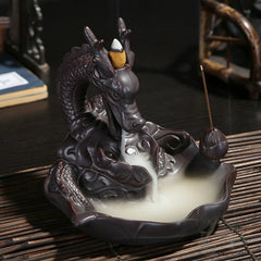 Ceramic Dragon Backflow Incense Burner