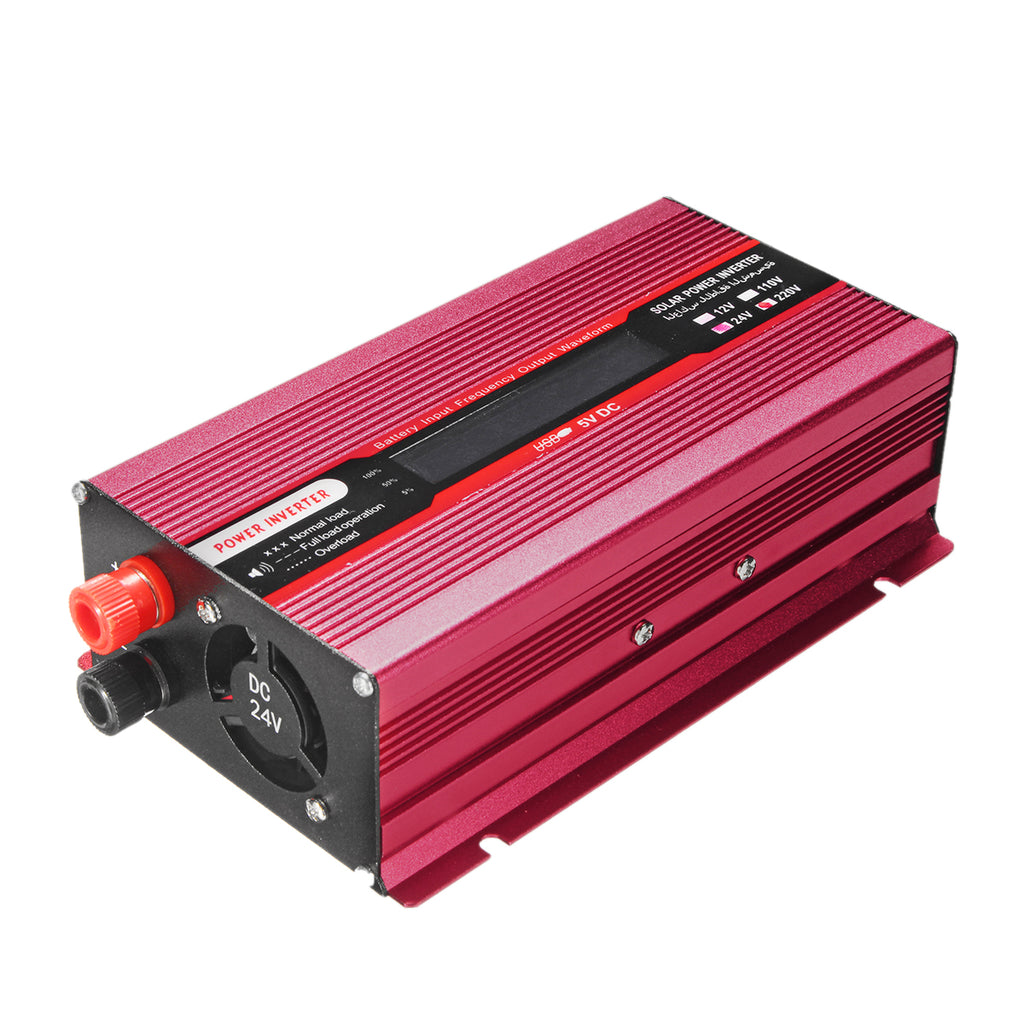 2000W DC 12V to AC 110V/220V Solar Power Inverter Modified Sine Wave LCD Voltage Display