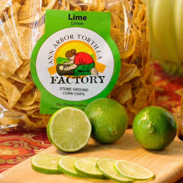 Ann Arbor Tortilla Factory Lime Flavor, Corn chips, 12 lbs case