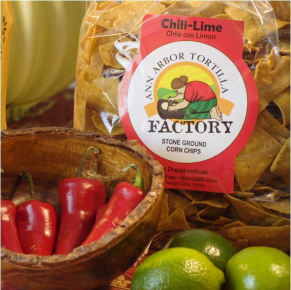 Ann Arbor Tortilla Factory Chili-Lime Flavor, Corn chips, 6 lbs case