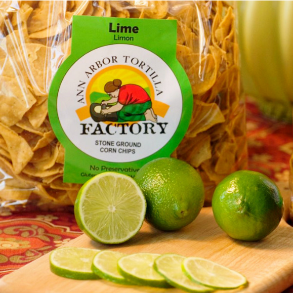 Ann Arbor Tortilla Factory Lime Flavor, Corn chips, 6 lbs case