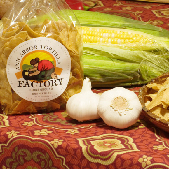 Ann Arbor Tortilla Factory Garlic Flavor, Corn chips, 6 lbs case