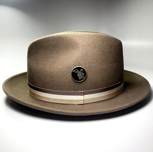FKHC BROWN FEDORA HAT WITH TURTLE LOGO