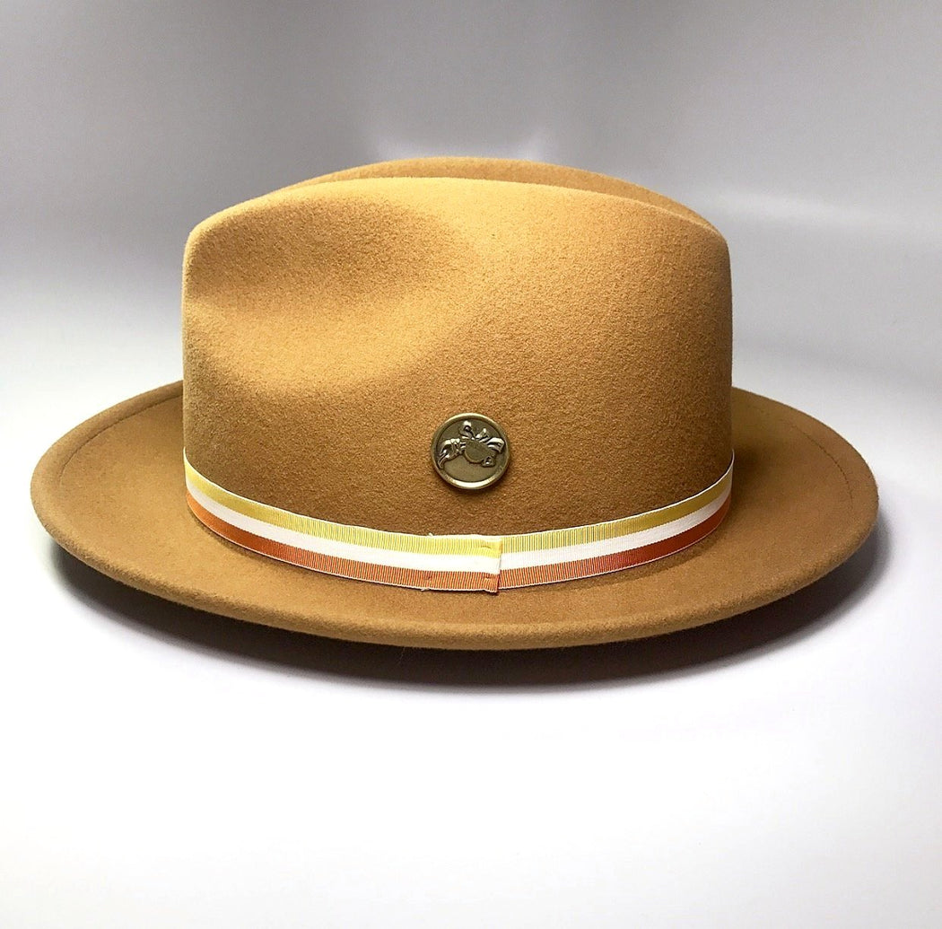 FKHC GOLD FEDORA HAT WITH TURTLE LOGO