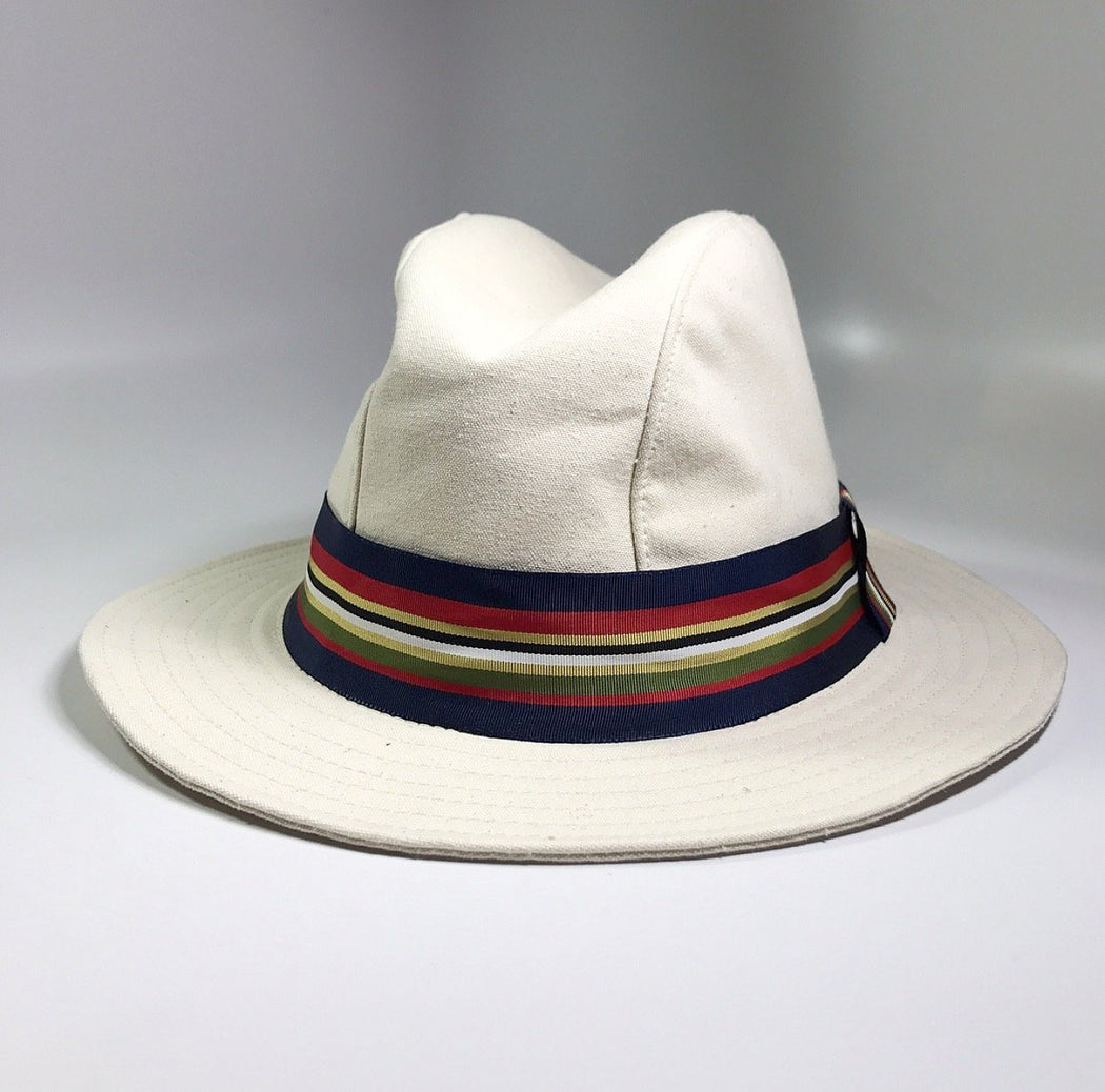 BEACHCOMBER OFF-WHITE COTTON FEDORA HAT