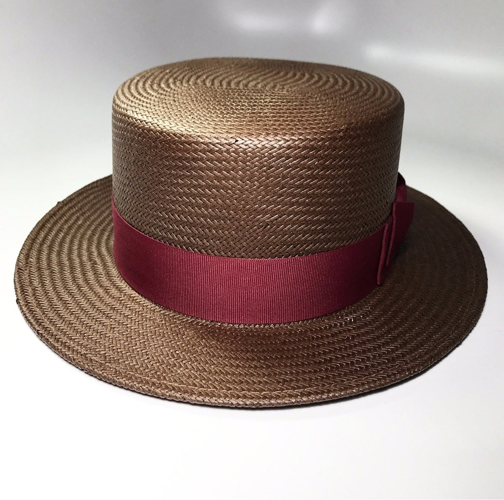 the BOATMAN BROWN/BURGUNDY