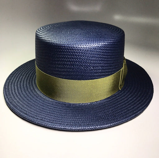 back profile, the FLAMEKEEPERS HAT CLUB BOATMAN NAVY/LIME HAT