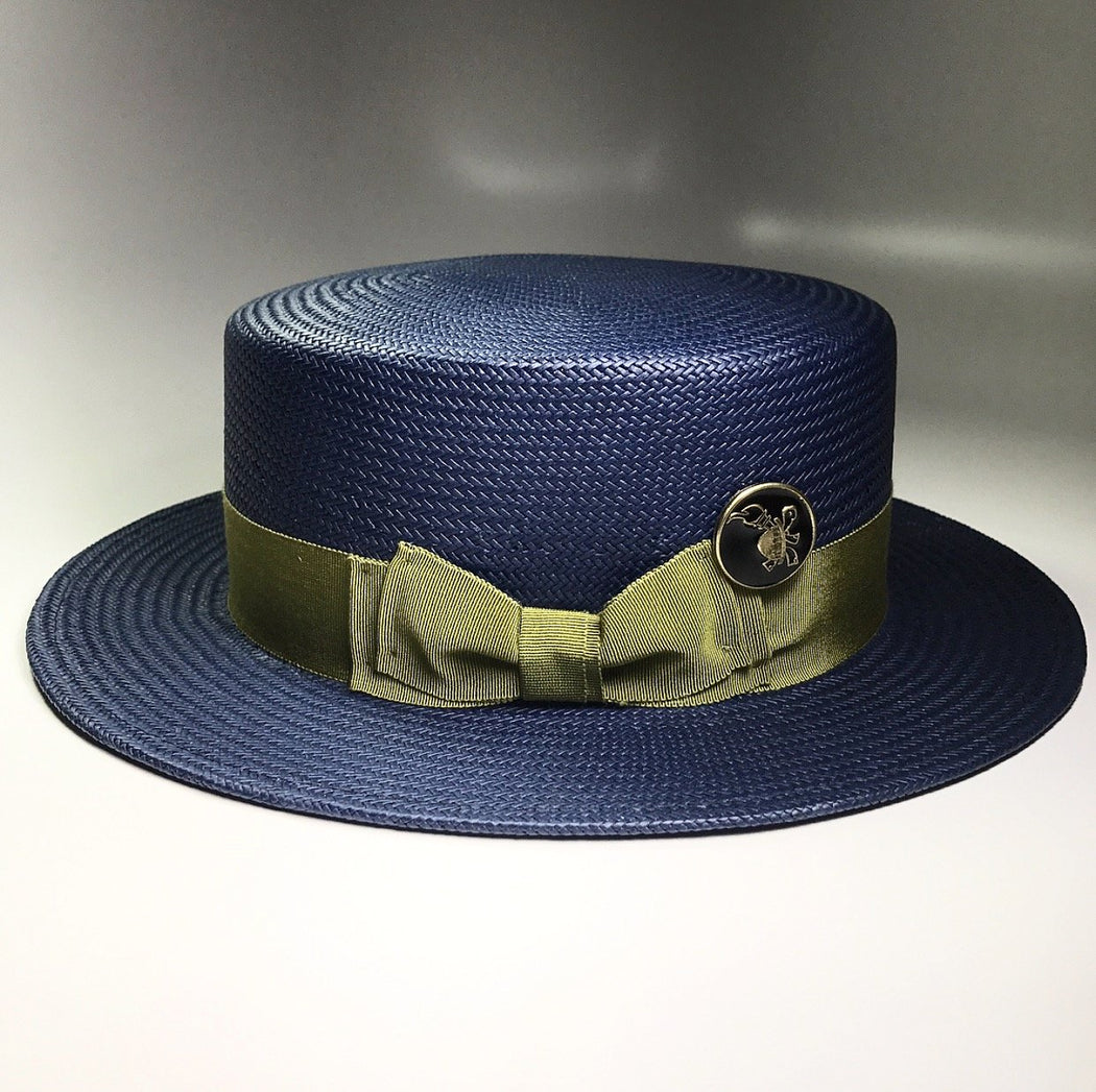 the FLAMEKEEPERS HAT CLUB BOATMAN NAVY/LIME HAT