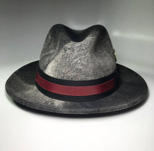 FlameKeepers Hat Club Briquette Burg/Blk Charcoal Fedora Hat