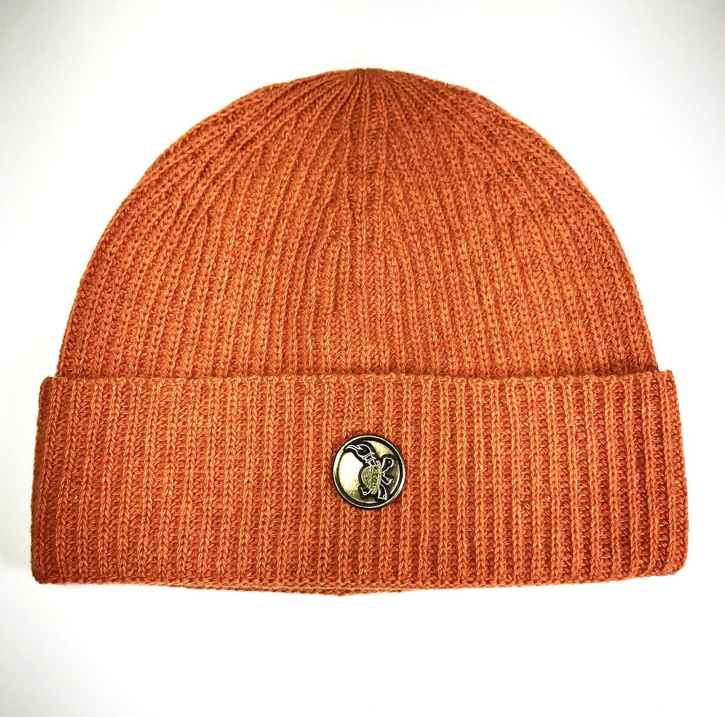 the MEDALLION SKULL CAP CASHMERE PUMPKIN