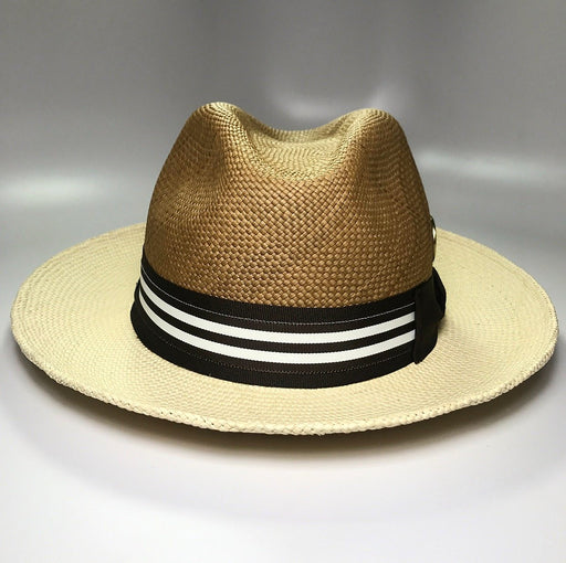 Flamekeepers Hat Club Duo C&V Fedora with Brown Checkered pattern
