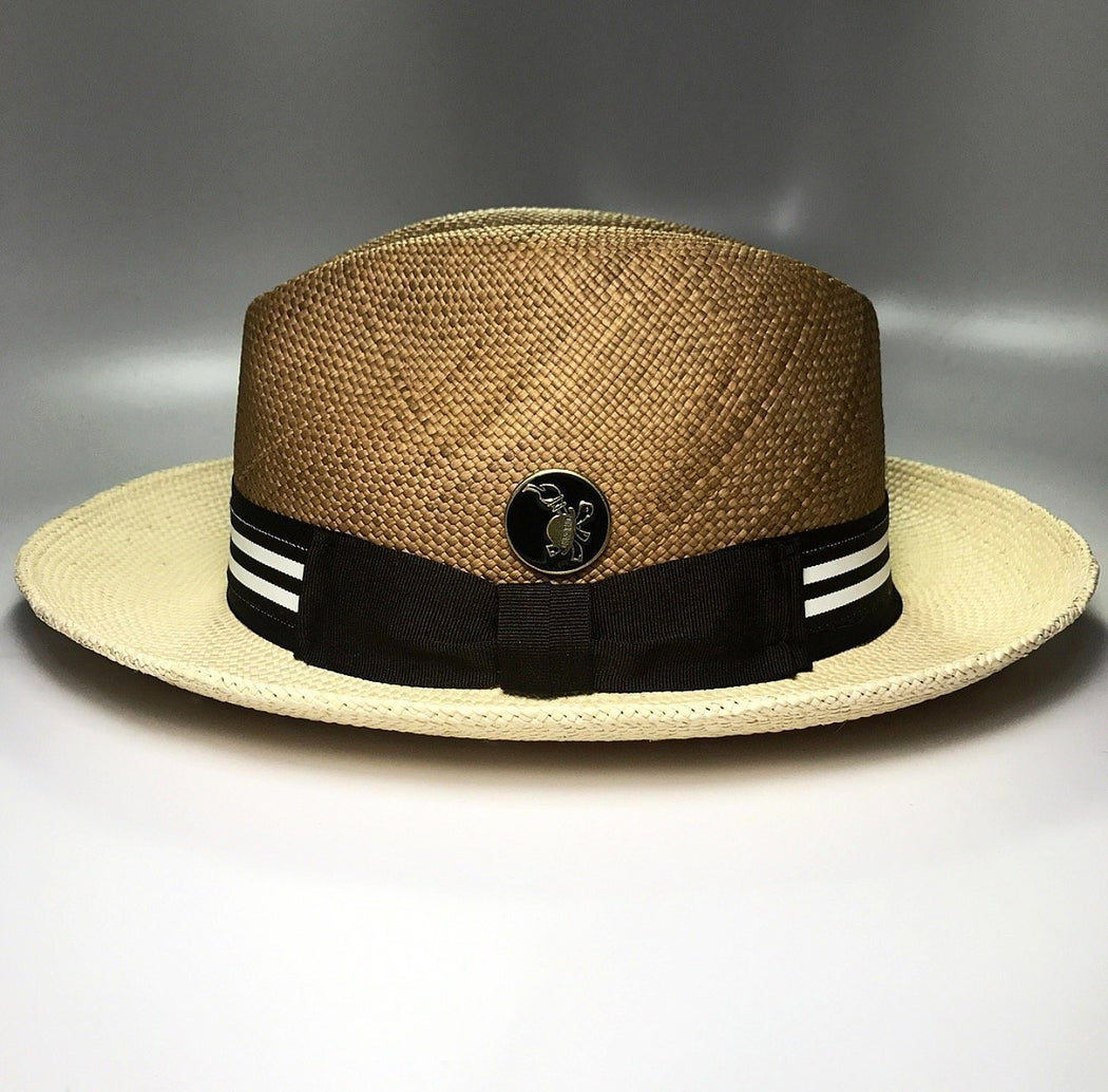 Side profile, FKHC Duo C&V Fedora with Brown Checkered pattern
