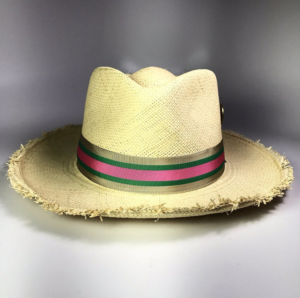 CASTAWAY NATURAL PANAMA STRAW HAT