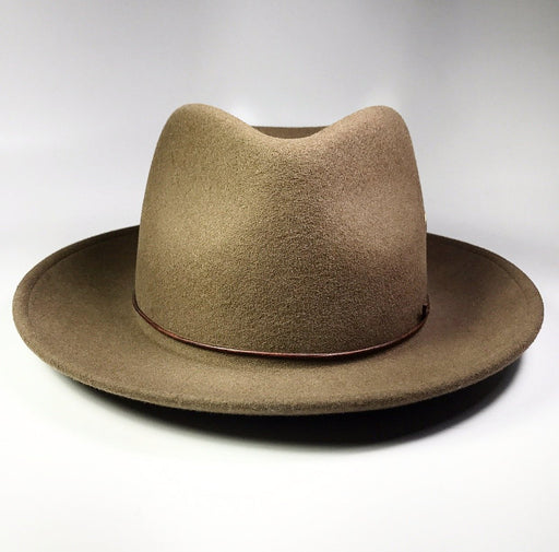 FLAMEKEEPERS HAT CLUB TURTLE CHESTNUT BROWN FEDORA