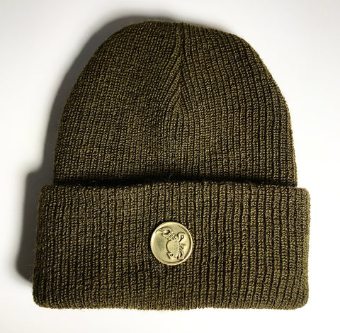 the MEDALLION SKULL CAP MOSS GREEN