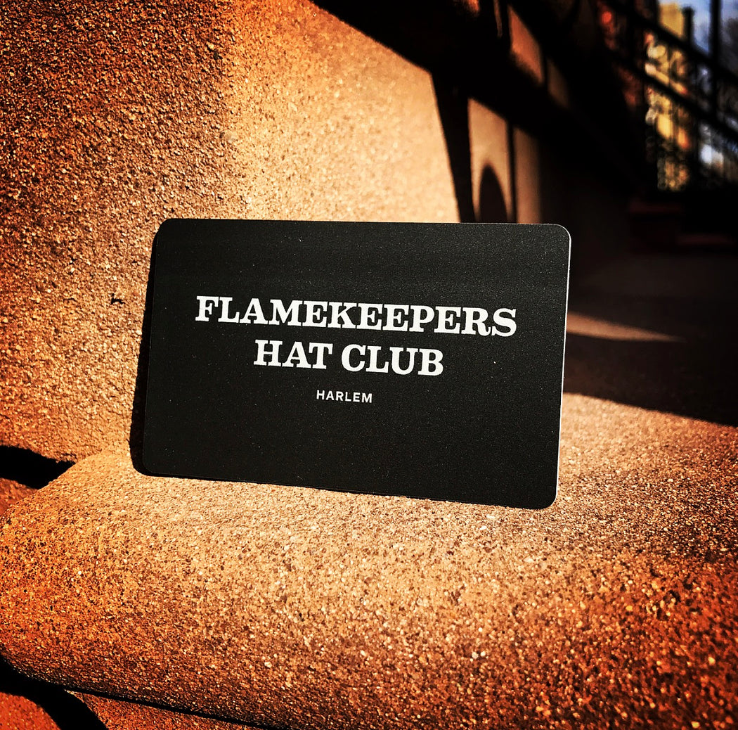 the FLAMEKEEPERS HAT CLUB GIFT CARD