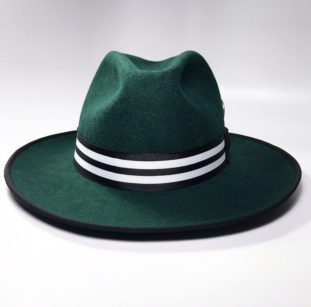 front profile, the FLAMEKEEPERS HAT CLUB WICKET GREEN HAT