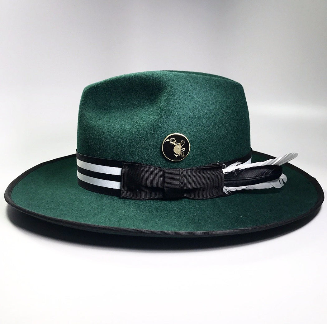 Side profile, FKHC WICKET GREEN HAT