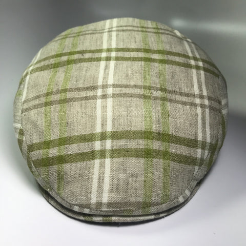 the LINEN IVY LIME PLAID