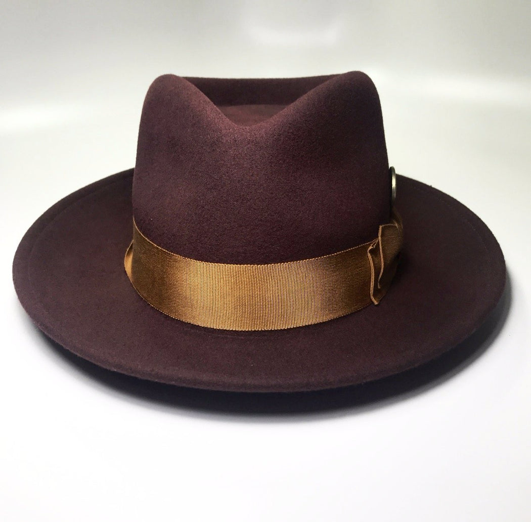 back profile, the FLAMEKEEPERS HAT CLUB MERCURY BURGUNDY/RUST HAT