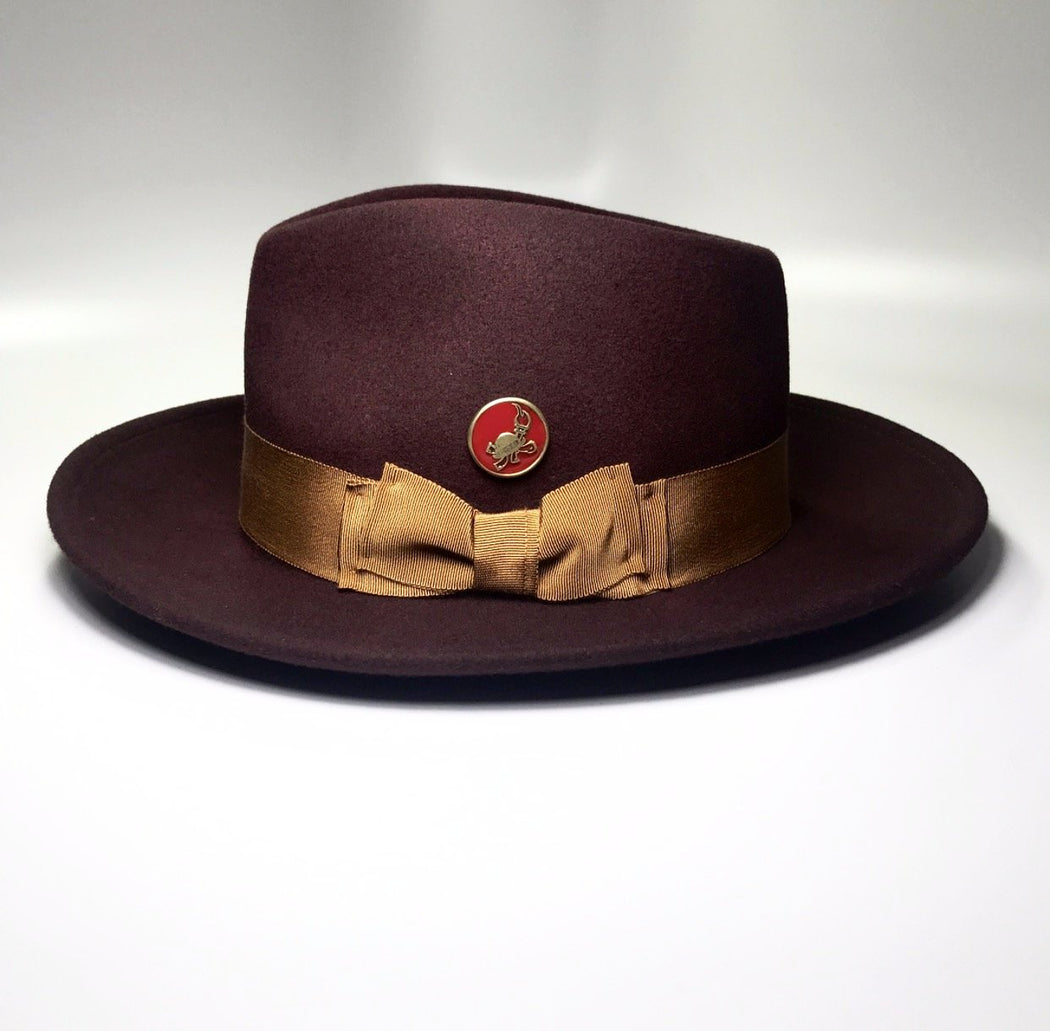 the FLAMEKEEPERS HAT CLUB MERCURY BURGUNDY/RUST HAT