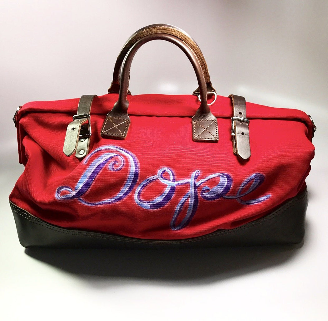 FKHC Red Duffle Bag with Dope artwork