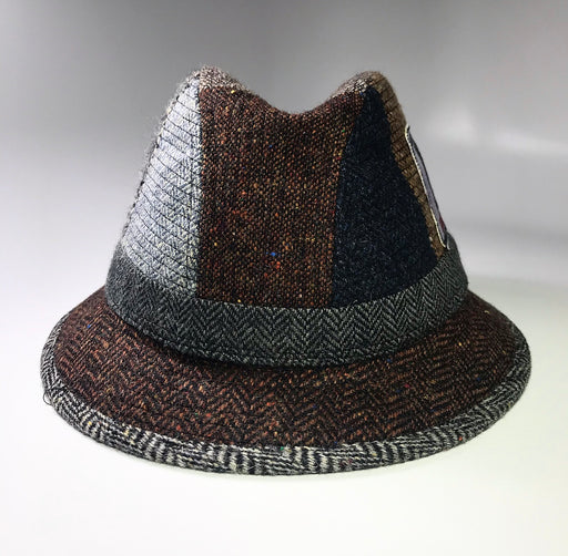 back profile, the FLAMEKEEPERS HAT CLUB YARD FEDORA HAT