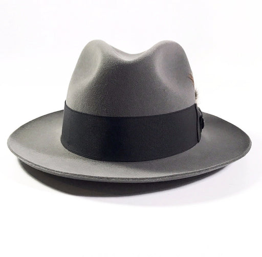 back profile,the FLAMEKEEPERS HAT CLUB STETSON TEMPLE GREY HAT