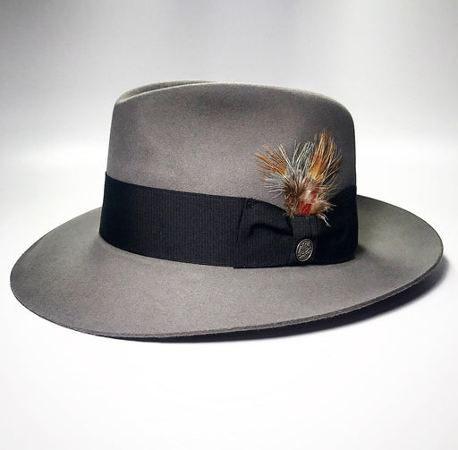 the FLAMEKEEPERS HAT CLUB STETSON TEMPLE GREY HAT