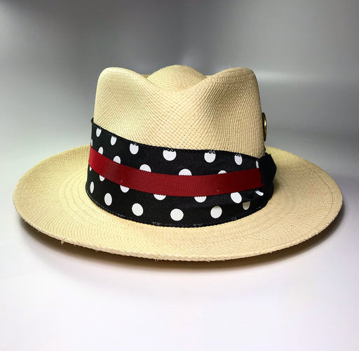 FLAMEKEEPERS HAT CLUB LIDO POLKA DOT FEDORA HAT
