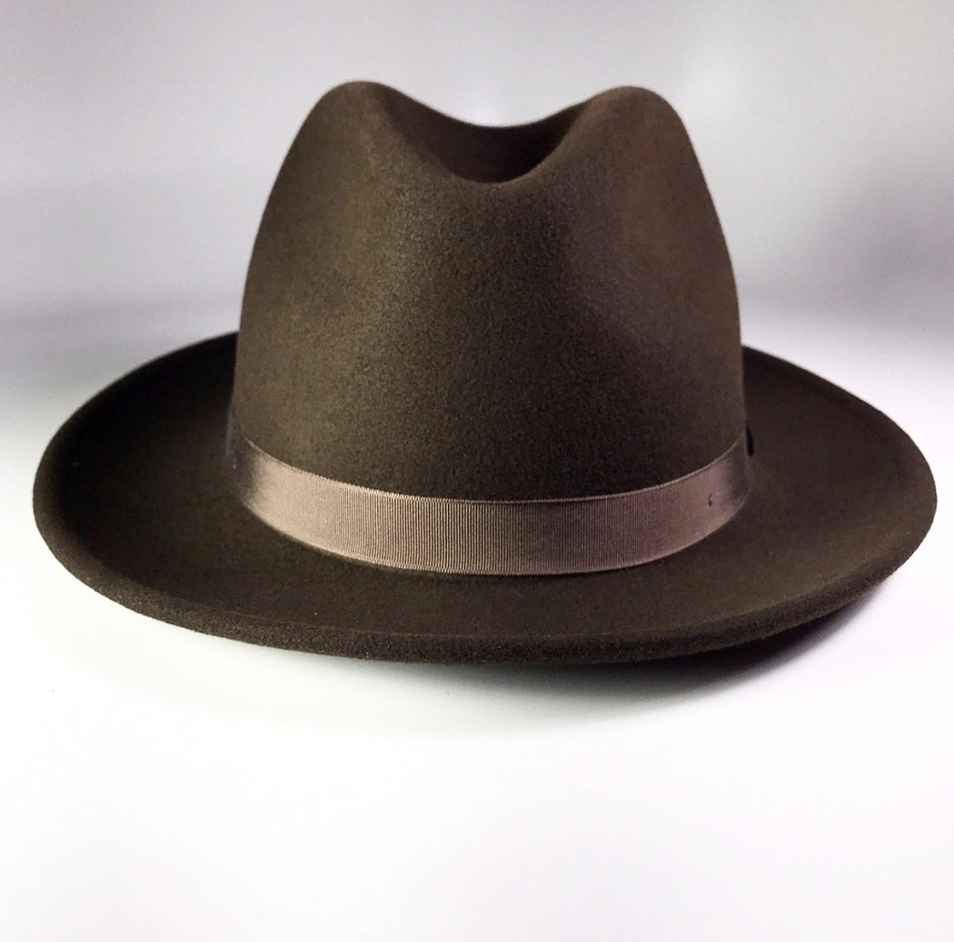 FLAMKEEPERS HAT CLUB TORCH COFFEE BROWN FEDORA