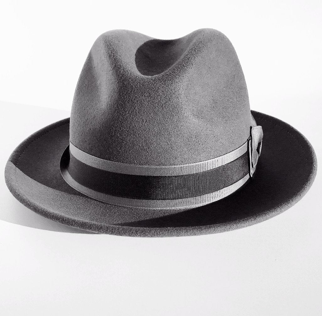 the FLAMEKEEPERS HAT CLUB TORCH DLUX GREY FEDORA