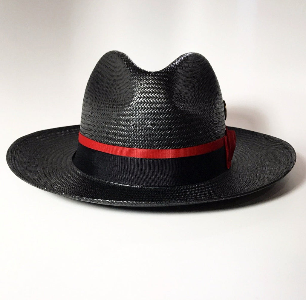 FKHC Black Straw Hat, Red Band