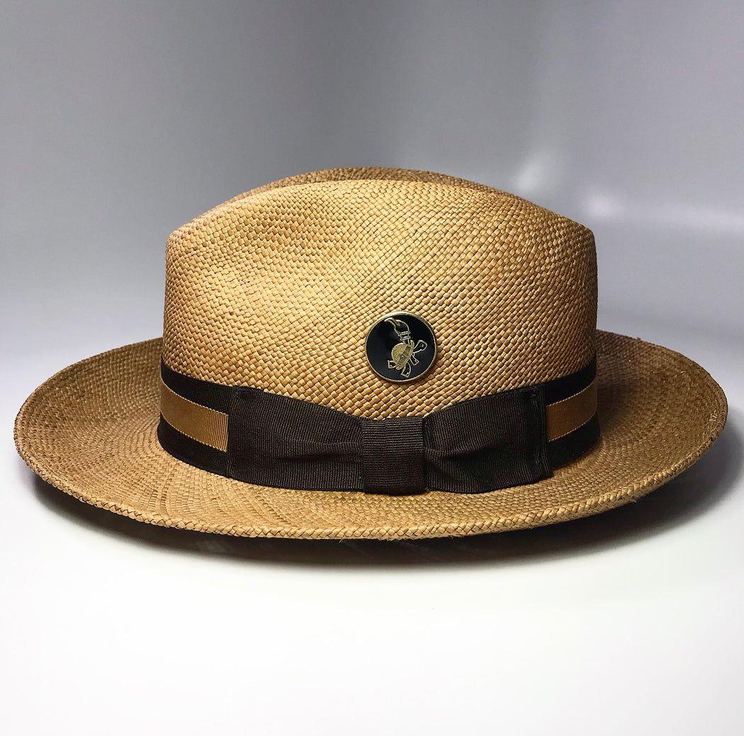FLAMEKEEPERS HAT CLUB CAFE ORO FEDORA HAT, TURTLE LOGO