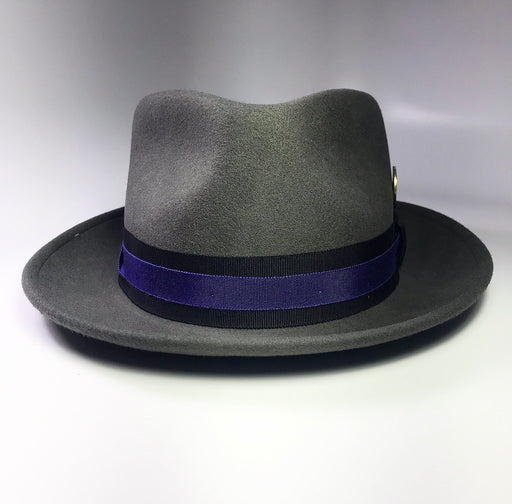 FLAMEKEEPERS HAT CLUB TRUFFLE GRANITE STEEL GREY FEDORA